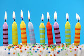 Nine birthday candles — Stock Photo