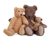 Family of teddy bears — Stock Photo