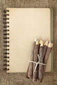 Bunch of wooden color pencils — Stock Photo