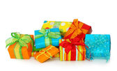 Colorful gift boxes — 图库照片