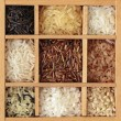 Assortment of rice - Stock Photo