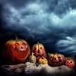 Stock Photo: Halloween pumpkins