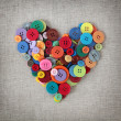 Colorful buttons heart — Stock Photo #6482444