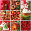 Collage christmas cakes — Stock Photo