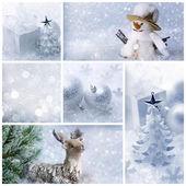White christmas collage — Stock Photo