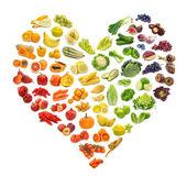 Rainbow hjärta — Stockfoto