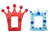 Colorful crown frames — Stock Photo