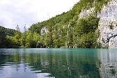 Lagoa azul em plitvice — Foto Stock