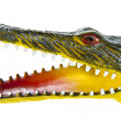 Scary crocodile head — Stock Photo