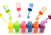 Colorful nailpolish — Stock Photo