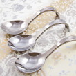 Stock Photo: Three amuse spoons