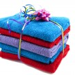 Stock Photo: Pile of towels