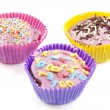 Colorful cup cakes — Foto Stock