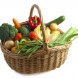 Basket with vegetables - Foto de Stock  