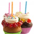 Cupcake birthday — Stock Photo