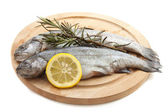 Trout on wood — Stock Photo