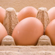 Stock Photo: Eggs in box