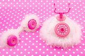 Telefono rosa principessa reale — Foto Stock