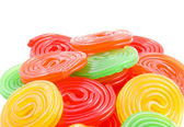 Sweet roll up candy — Stock Photo