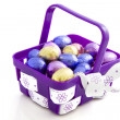 Purple easter basket - Stock Photo
