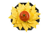 A plate with tortilla chips — Stock Photo