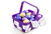 Purple easter basket — Stock Photo