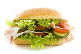 Big healthy sandwich — Stock Photo