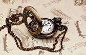Старинные карманные часы — Стоковое фото