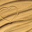 Stock Photo: Heart on the sand
