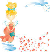 Love fairy with water can — Stock Vector