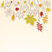 Autumn falling leaves background — Stock Vector