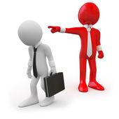 босс увольнения работника — Стоковое фото