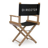 Film director's chair back view — Photo