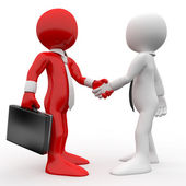 Men shaking hands as a sign of friendship and agreement — Stock Photo