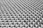 Horizontal arranged in rows of nuts — Stock Photo