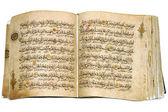 Book Koran opened and isolated — Stock Photo