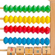Children's abacus with color and digital elements — Stock Photo