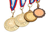 Four medals for dancing — Stock Photo