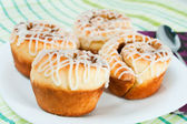 Rolled muffins — Stock Photo