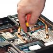 Stock Photo: Laptop repair