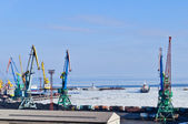 Commercial Sea Port on the ice — Stock Photo