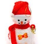 Christmas toy snowman — Stock Photo