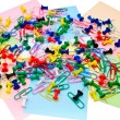 Colored paper clips and pins — Stock Photo #5999889
