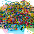 Colored paper clips and pins — Stock Photo #5999943