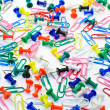 Colored paper clips and pins — Stock Photo #5999971
