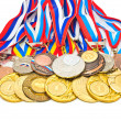 Stock Photo: Sports Medal of RussiFederation. Isolated on white backgr