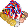 Sports Medal of the Russian Federation. Isolated on white backgr — Stock Photo