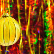 Christmas decorations and tinsel in different colors — Stockfoto