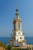 Chiesa sulla spiaggia — Foto Stock