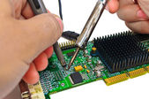 Repair and diagnostic electronics — Stock Photo